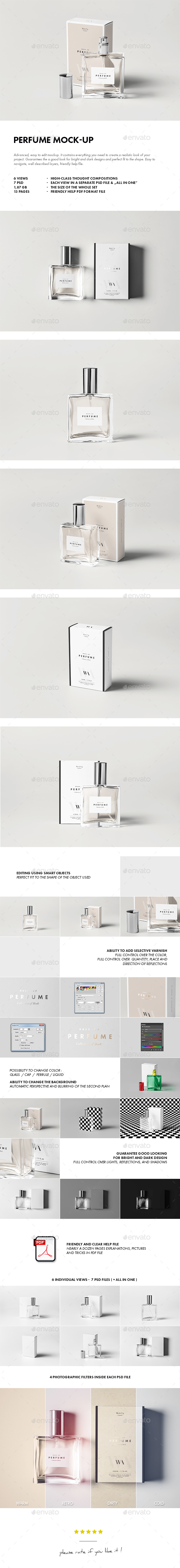 Perfume Mock-up - Beauty Packaging