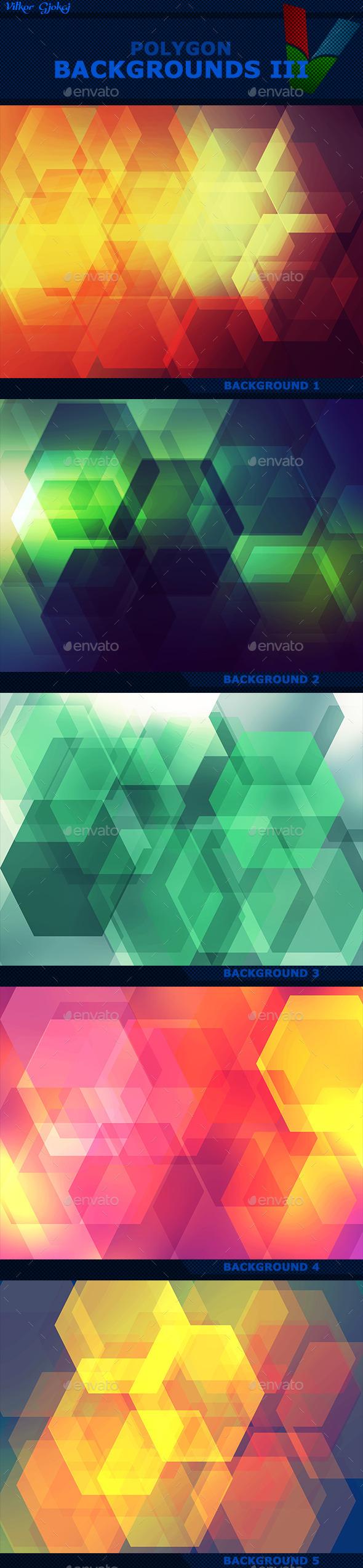 Polygon Backgrounds III - Abstract Backgrounds
