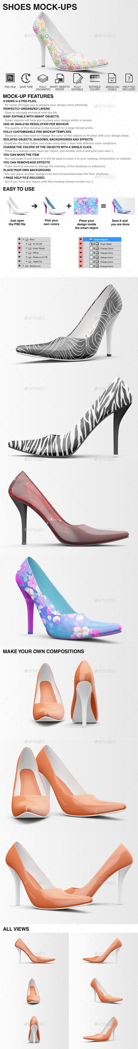 Shoes Mockup - High Heels Mockup Edition - Miscellaneous Apparel
