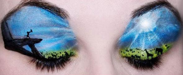 Lion king eye makeup 590kk