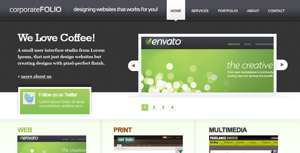 corporate Folio HTML Template - Portfolio Creative