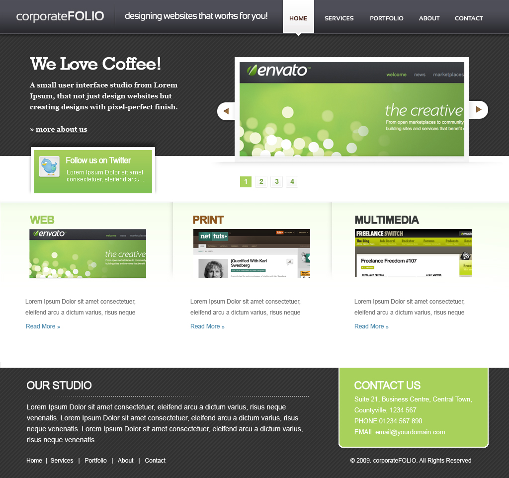 Free Download corporate Folio HTML Template Nulled Latest Version
