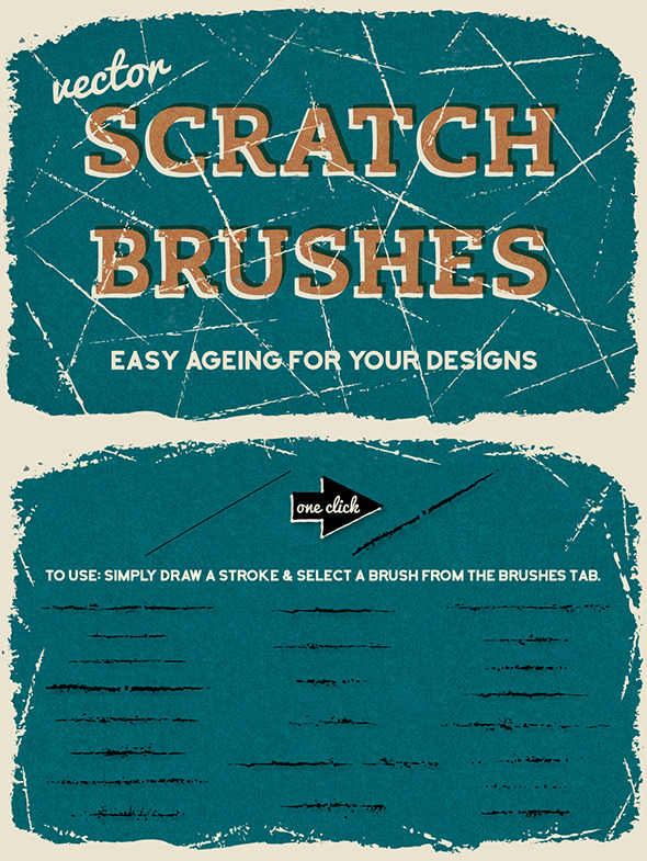 Vector Scratch Brushes - Brushes Illustrator