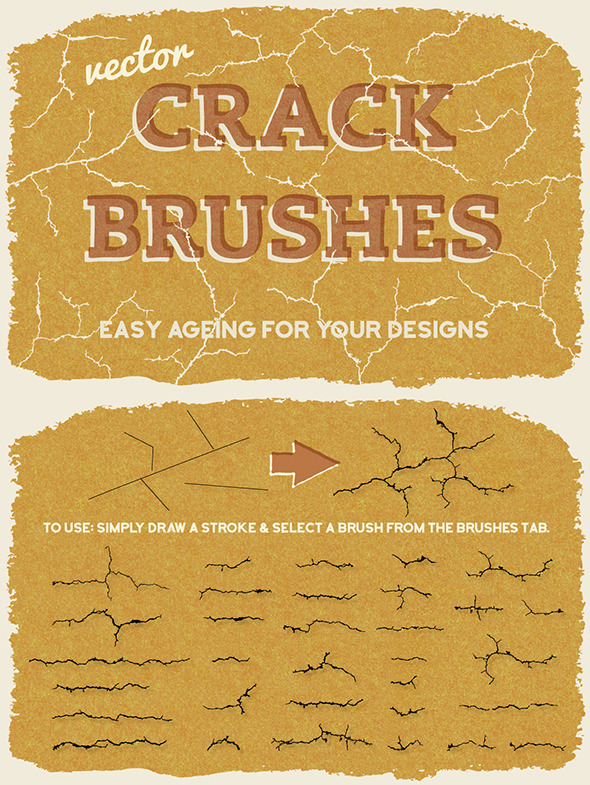 Vector Crack Brushes - Brushes Illustrator