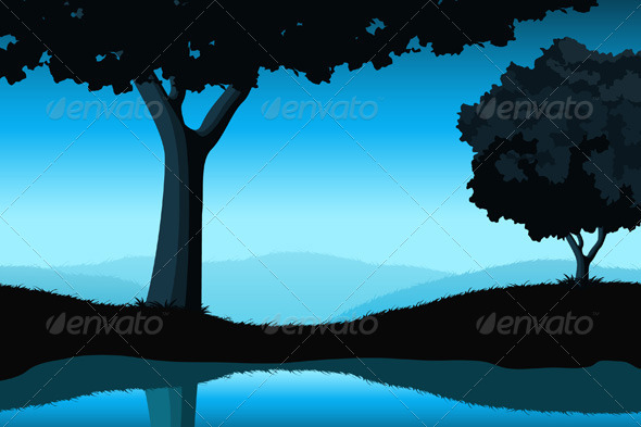 Majestic Landscape with Trees - Landscapes Nature