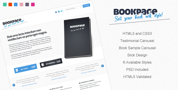 BookPage - Sell your books with Style!  - Marketing Corporate