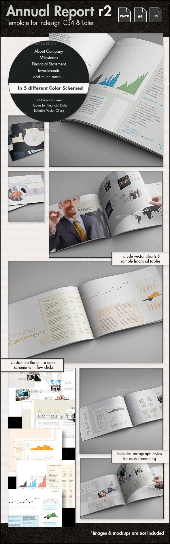 Annual Report Template r2 - A4 Landscape - Corporate Brochures