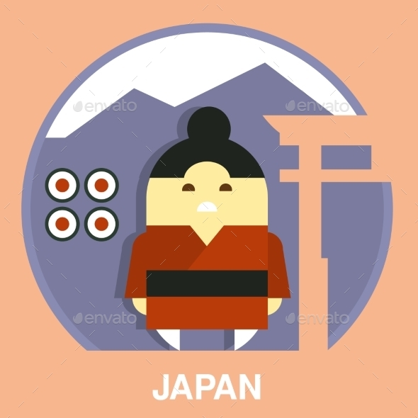 Japanese Man Vector Illustration - People Characters