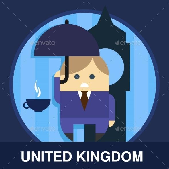 Englishman Vector Illustration - People Characters