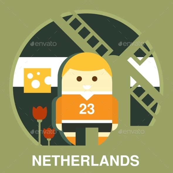 Traditional Dutchman Vector Illustration - People Characters