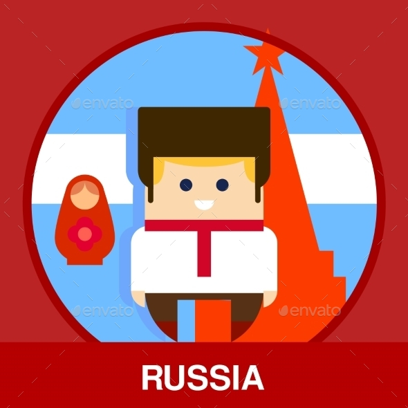 Traditional Russian Man Vector Illustration - People Characters