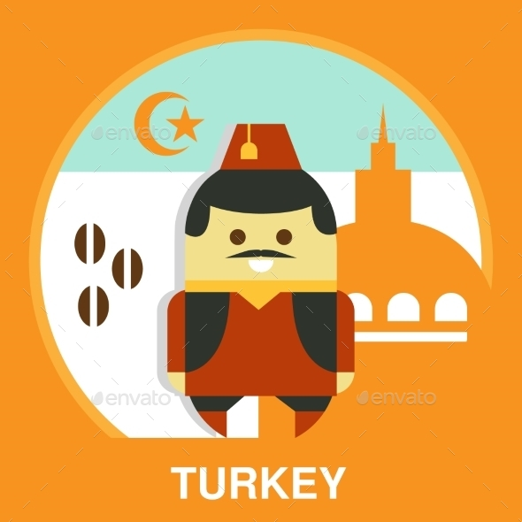 Turkish Man In National Costume Vector - People Characters