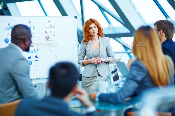 Listening to colleagues - Stock Photo - Images