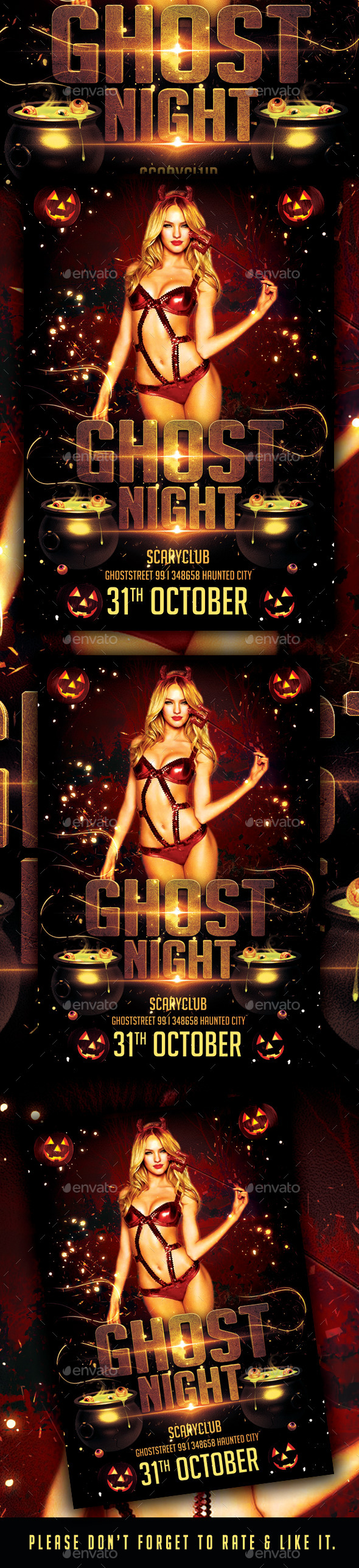 Ghost Night Party Flyer  - Flyers Print Templates