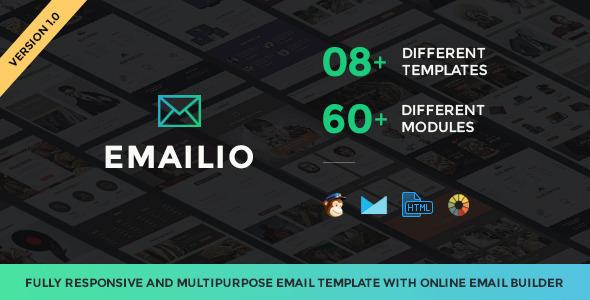 Emailio Responsive Multipurpose Email Set+Builder