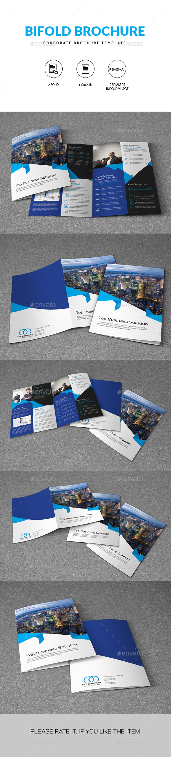 Corporate Bifold Brochure Template - Corporate Brochures