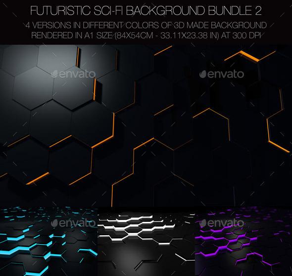 Futuristic Sci-FI Background - 3D Backgrounds