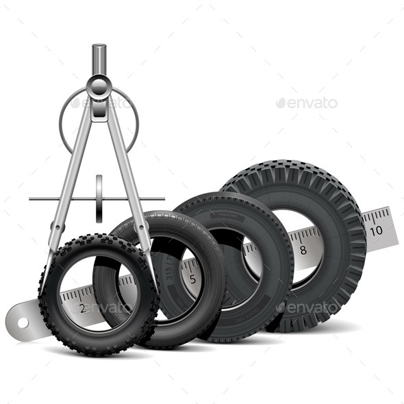 Vector Tire Scale - Industries Business