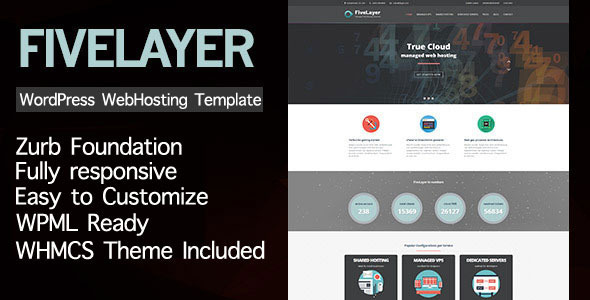 FiveLayer – Web Hosting Responsive WordPress Theme