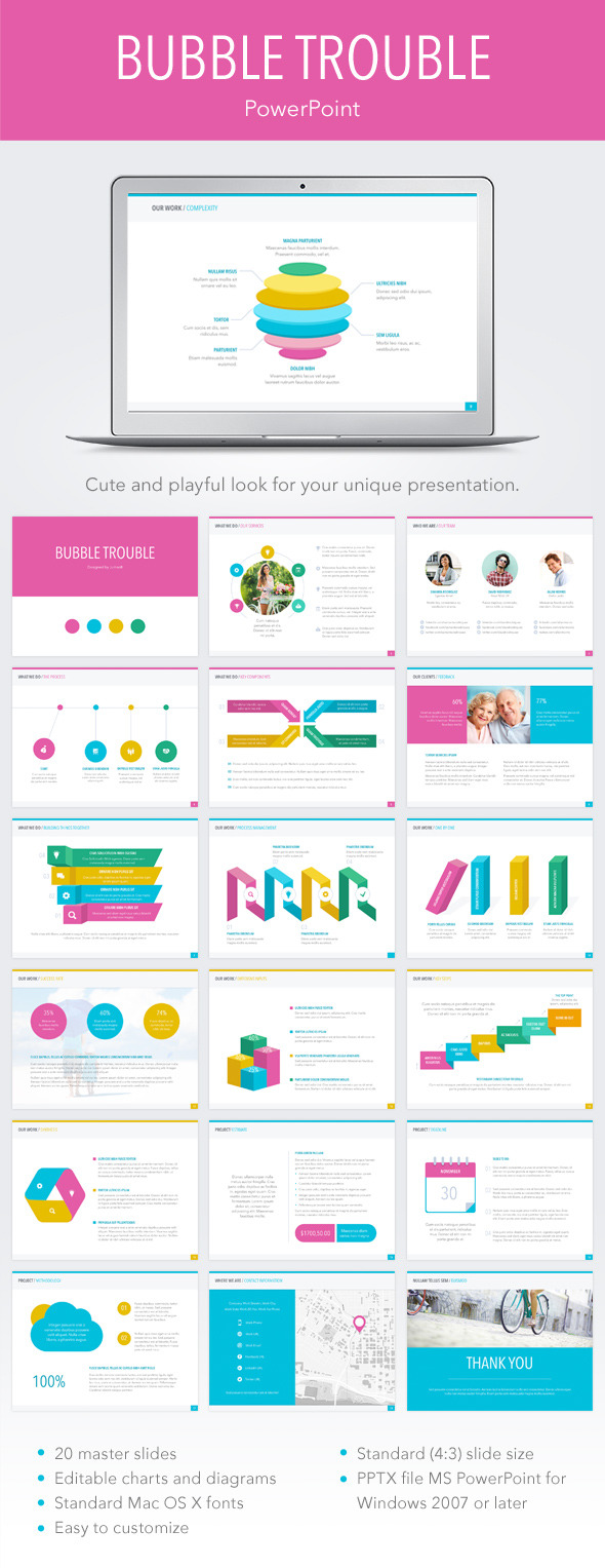 Bubble Trouble PowerPoint Template - Abstract PowerPoint Templates