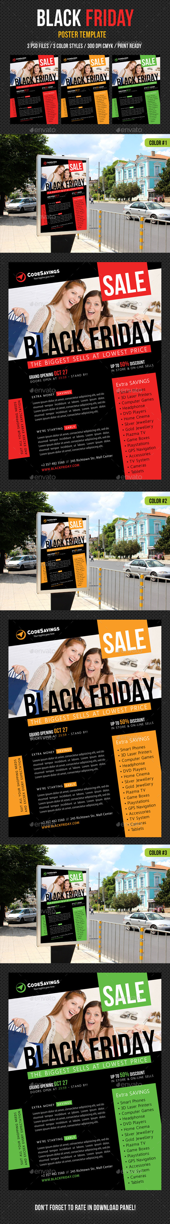 Black Friday Poster Template V03 - Signage Print Templates