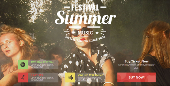 Music Festival / Indie Event / Concert Theme