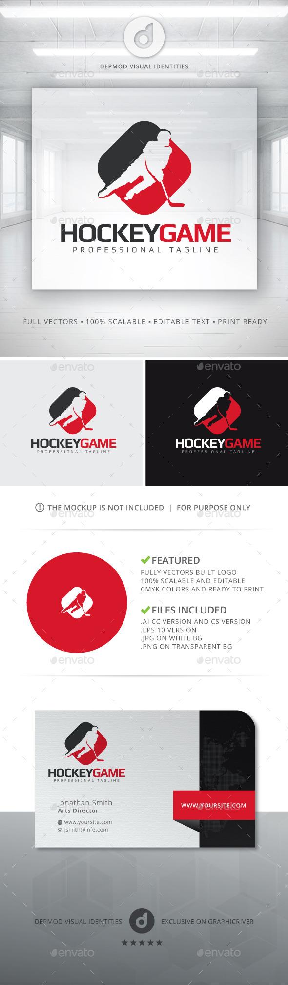 Hockey Game Logo - Humans Logo Templates