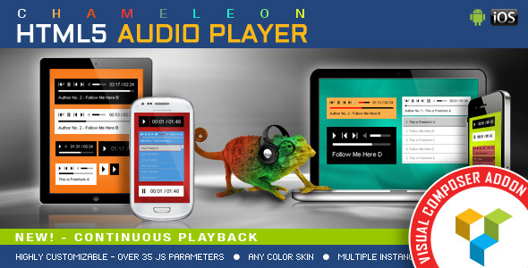 Visual Composer Addon - Chameleon Audio Player - CodeCanyon Item for Sale