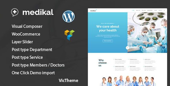 Medical Healthcare WordPress Theme - Health & Beauty Retail