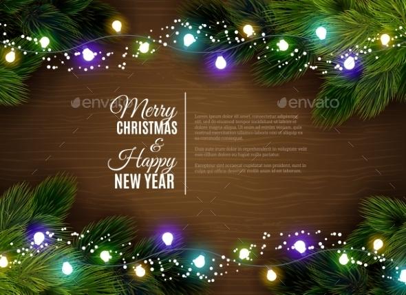 Christmas Lights Border Decoration - Christmas Seasons/Holidays