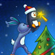 Animals Decorating a Christmas Tree - GraphicRiver Item for Sale