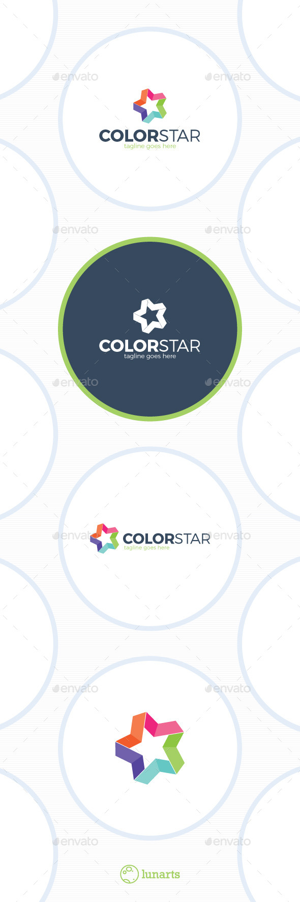 Colorful Star Logo - Bold Line - Symbols Logo Templates