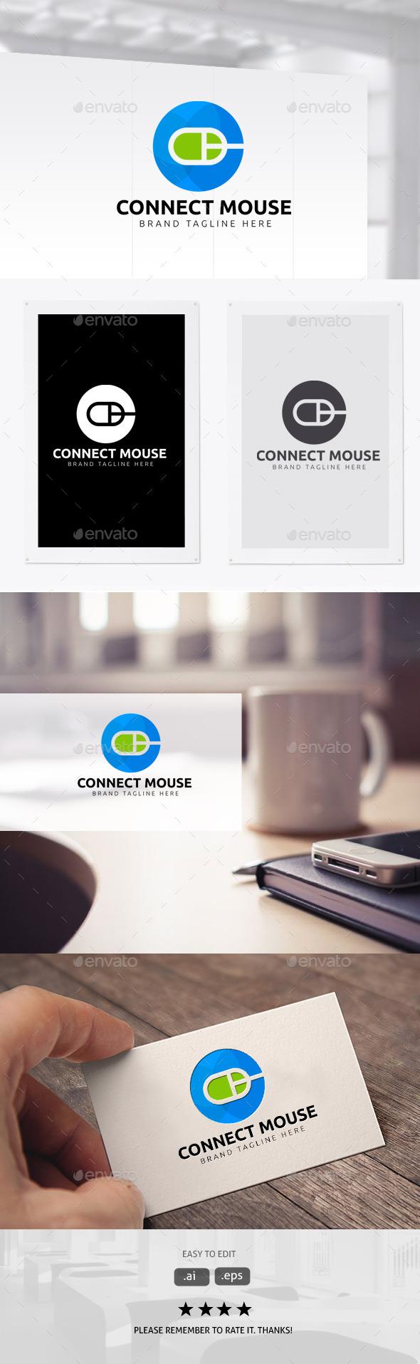 Connect  Mouse - Symbols Logo Templates
