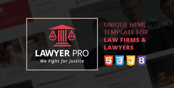 Lawyer Pro Responsive Site Template for Lawyers - Corporate Site Templates