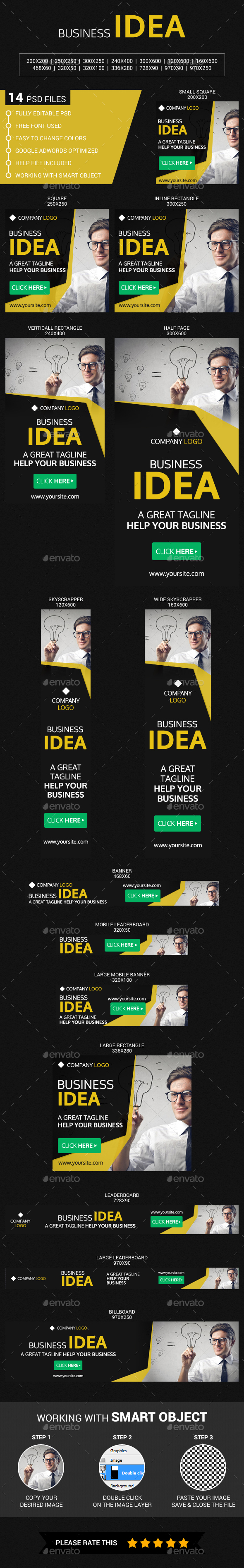 Business - Banners & Ads Web Elements