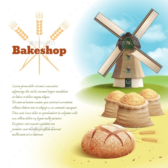 Bread Background Illustration - Food Objects