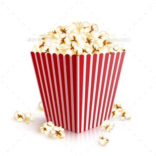 Realistic Popcorn Bucket - Food Objects