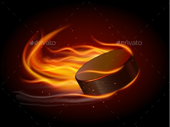 Puck on Fire - Sports/Activity Conceptual