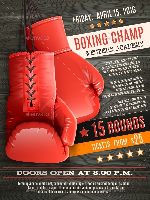 Gloves Boxing Poster - Sports/Activity Conceptual