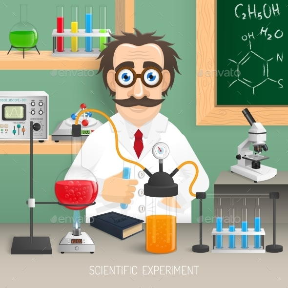 Scientist in Chemistry Lab - Miscellaneous Vectors