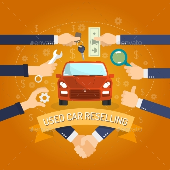 Car Reselling Concept - Services Commercial / Shopping