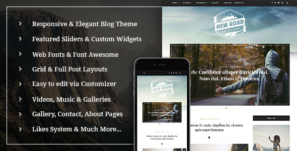 NewRoad A Responsive WordPress Blog Theme