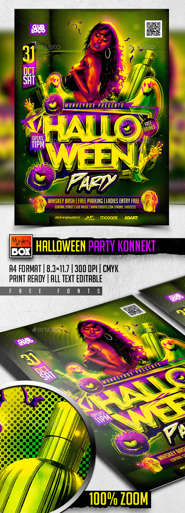 Halloween Party Konnekt - Flyers Print Templates