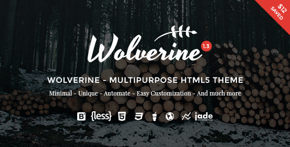 Wolverine - Multipurpose HTML5 Template - Creative Site Templates