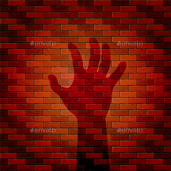 Shadow of Hand on a Wall - Halloween Seasons/Holidays