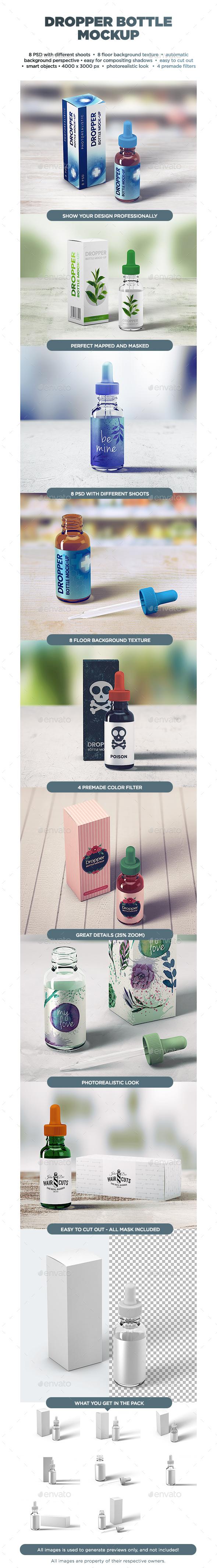 Dropper Bottle MockUp - Beauty Packaging