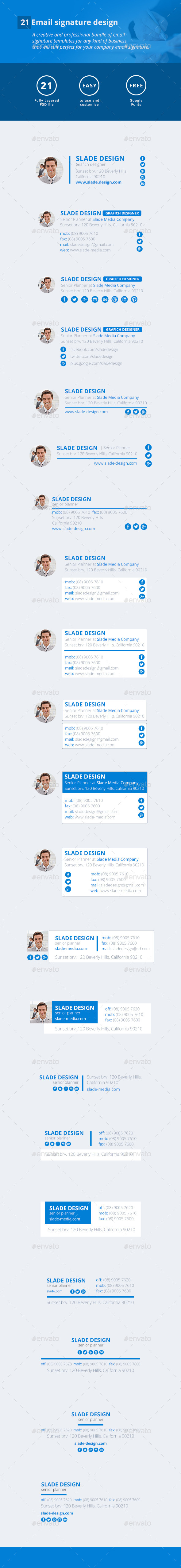 21 Email Signature Design - Miscellaneous Social Media