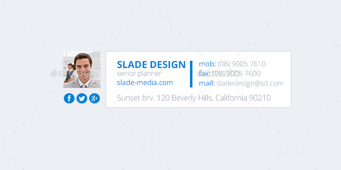 21 Email Signature Design by SladeDesign | GraphicRiver