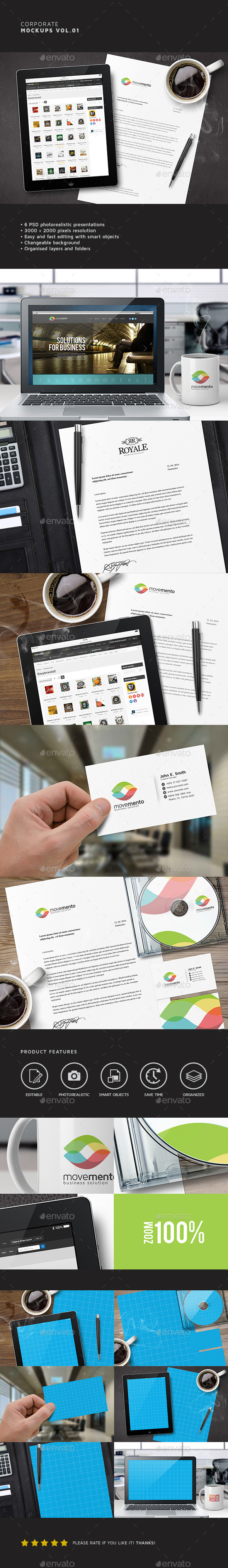 Corporate Mockups Vol.01 - Product Mock-Ups Graphics