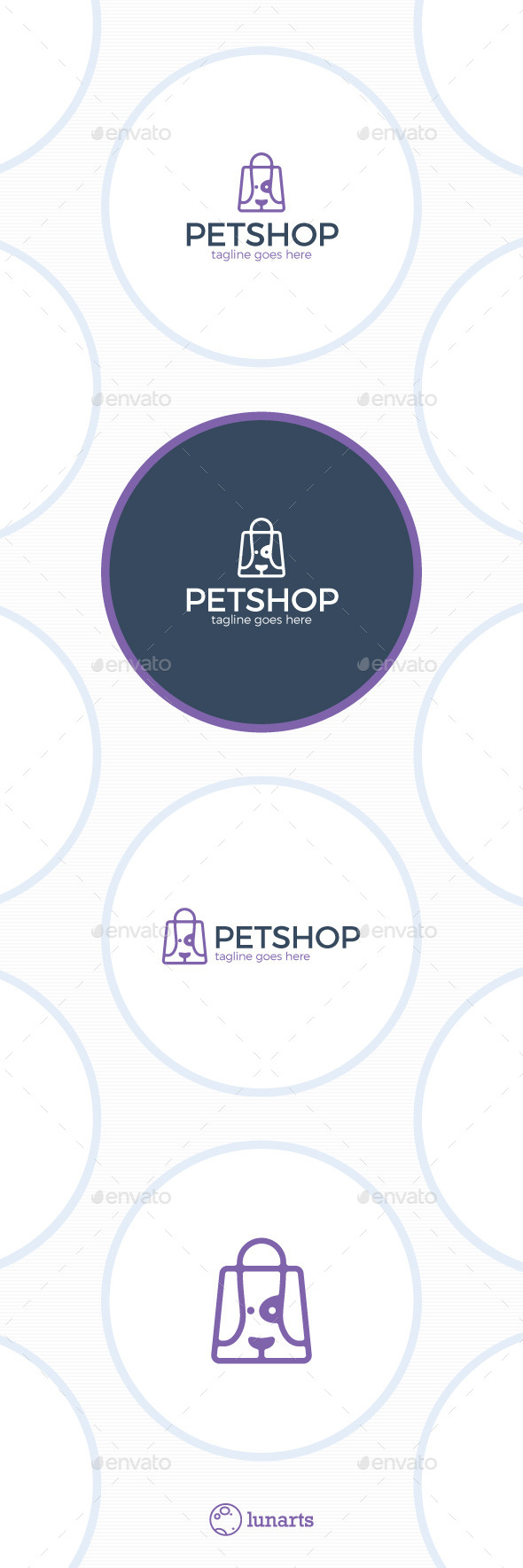 Pet Store Logo - Dog Bag - Animals Logo Templates